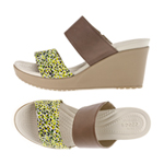 LEIGH II 2-STRAP GRAPHIC WEDGE