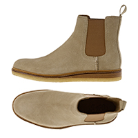 GOLD CREPE CHELSEA SUEDE